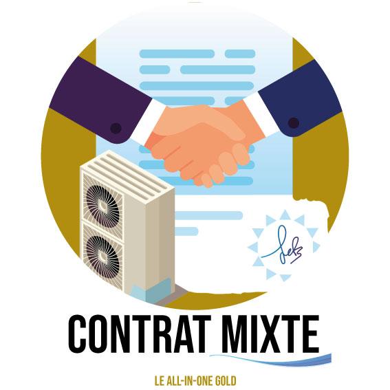 Dessin montrant le contrat mixte de la société SAFC